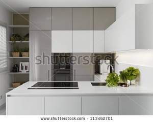 stock-photo-modern-kitchen-with-vgetables-on-the-white-worktop-113462701